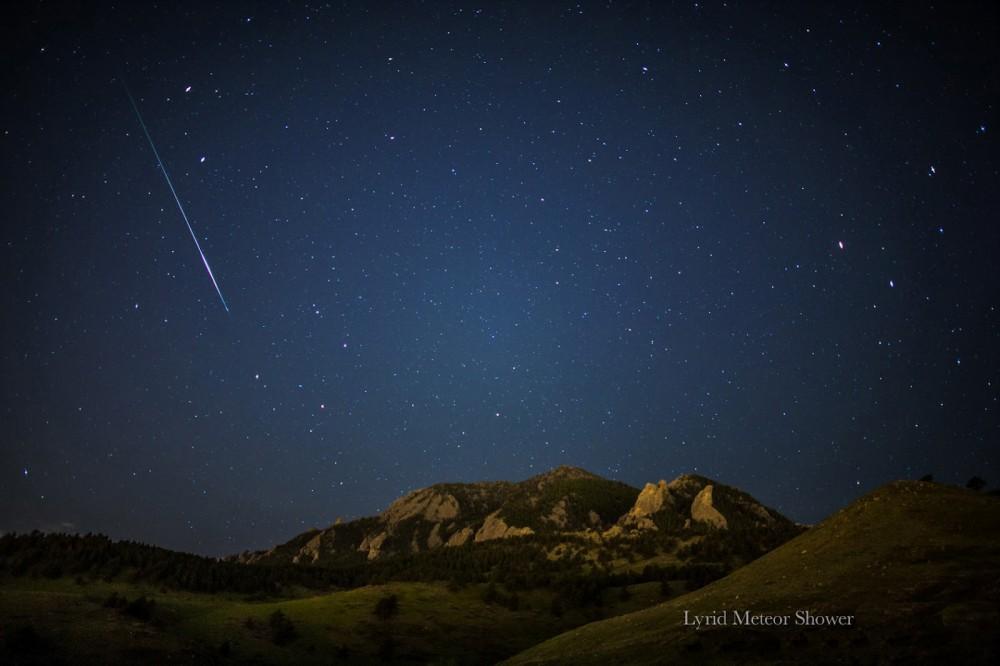 Метеорный поток Лириды.