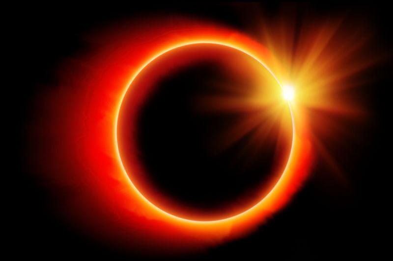 Кольцеобразное солнечное затмение.